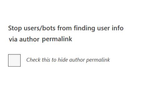 block author enumeration