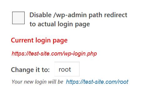 hide WordPress login page