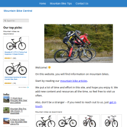 mountain bikes website thumbnail