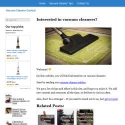 vacuum cleaners website thumbnail