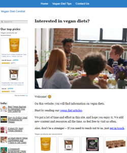 vegan diet website thumbnail