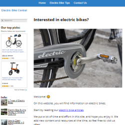electric bikes website thumbnail